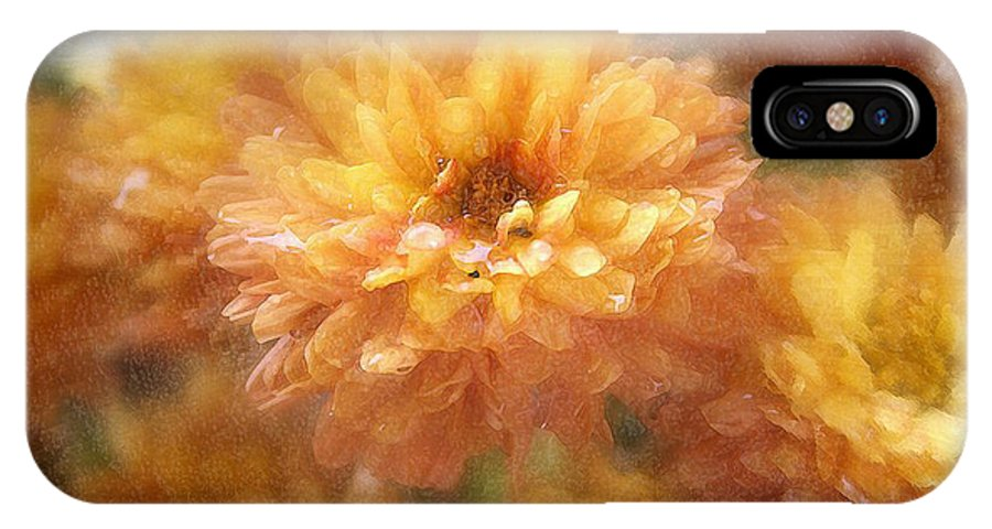 Flowers IPhone X Case featuring the photograph Orange Passion by Linda Sannuti