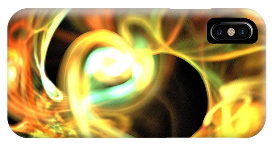 Apophysis IPhone X / XS Case featuring the digital art Orange Pearl by Kim Sy Ok
