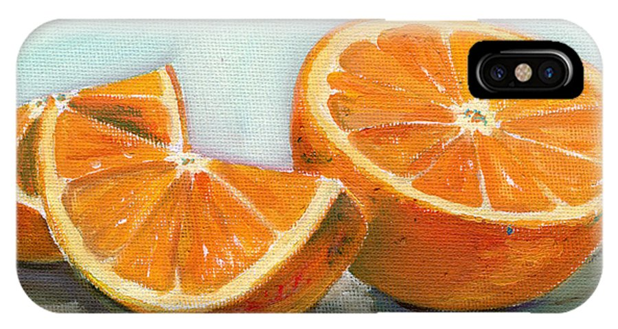 Oil IPhone X Case featuring the painting Orange by Sarah Lynch