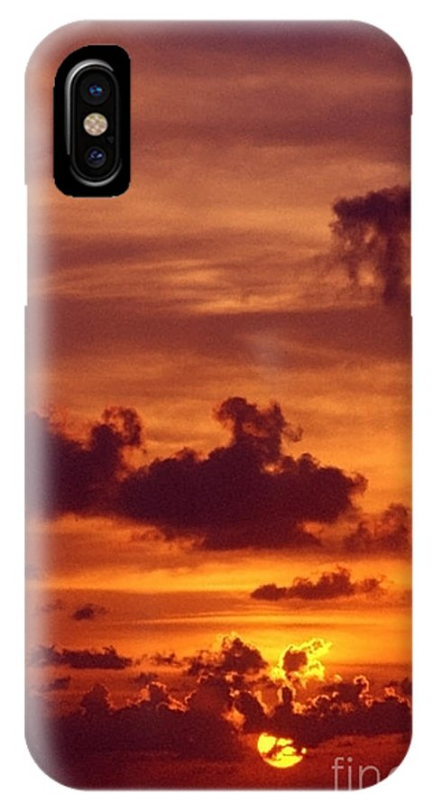 Sunset IPhone Case featuring the photograph Orange Sunset by Sven Brogren