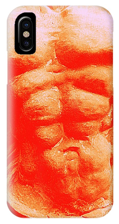 Torso IPhone X Case featuring the photograph Orange Torso by Randall Weidner