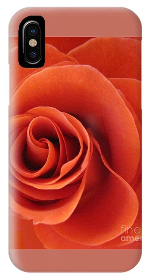 Floral IPhone X Case featuring the photograph Orange Twist Rose 5 by Tara Shalton