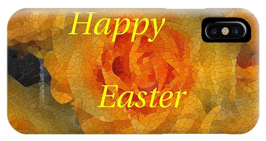 Easter IPhone X Case featuring the digital art Orange You Lovely Easter by Tim Allen