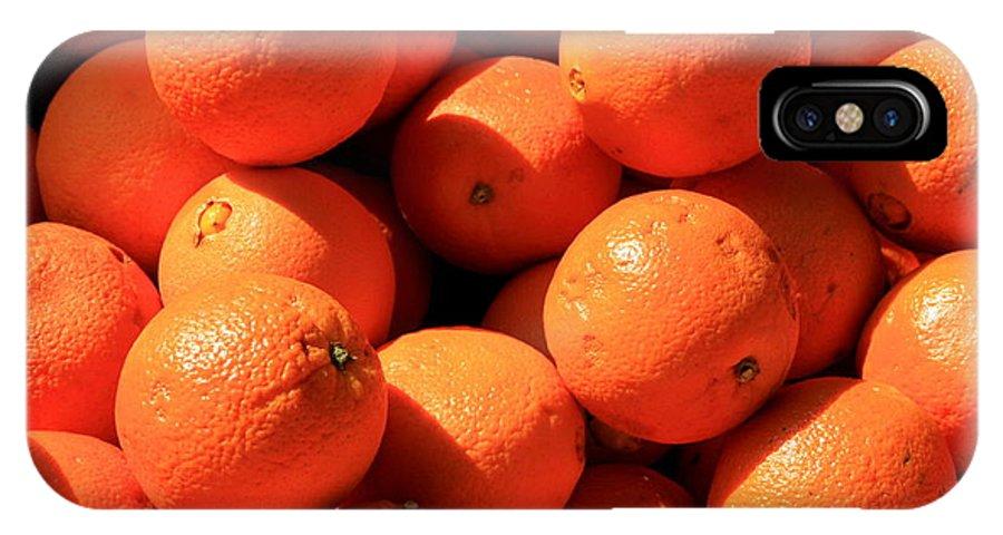 Orange IPhone X Case featuring the photograph Oranges by David Dunham