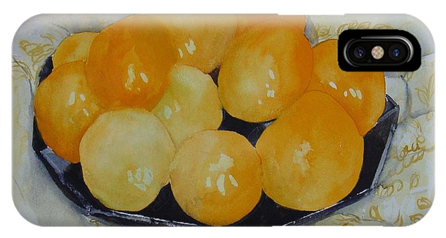 Still Life Watercolor Original Leilaatkinson Oranges IPhone Case featuring the painting Oranges by Leila Atkinson