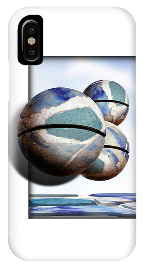 Magritte IPhone X Case featuring the painting Orbiting Out by Gravityx9 Designs