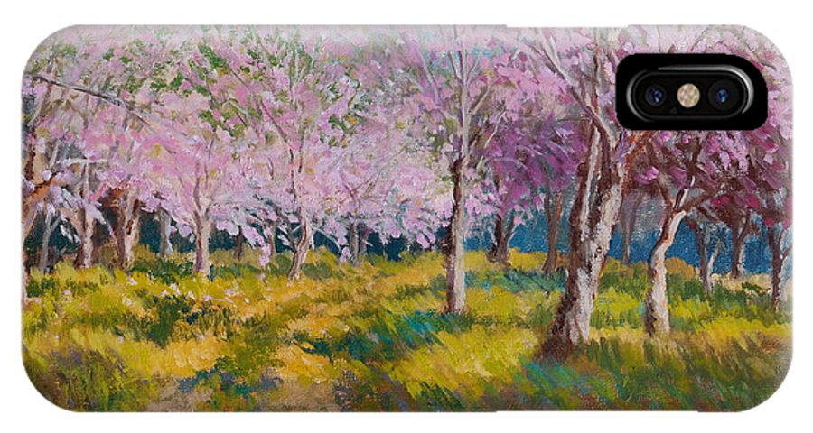 Impressionism IPhone X Case featuring the painting Orchard Light by Keith Burgess