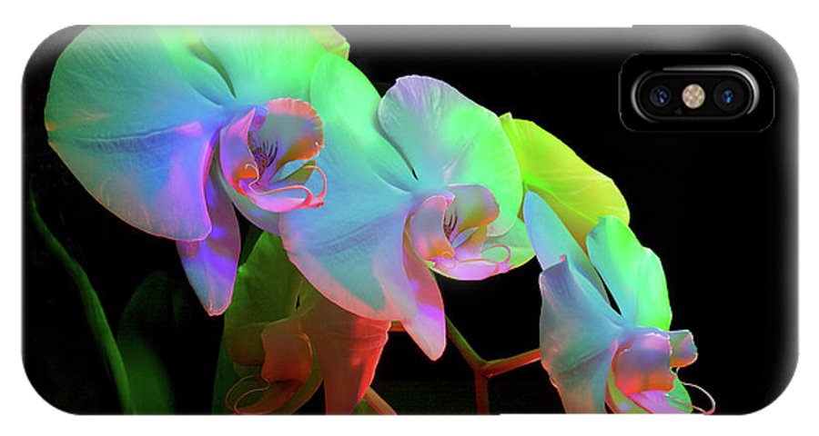 Orchid IPhone X Case featuring the photograph Orchid #2 by Joe Goeldel
