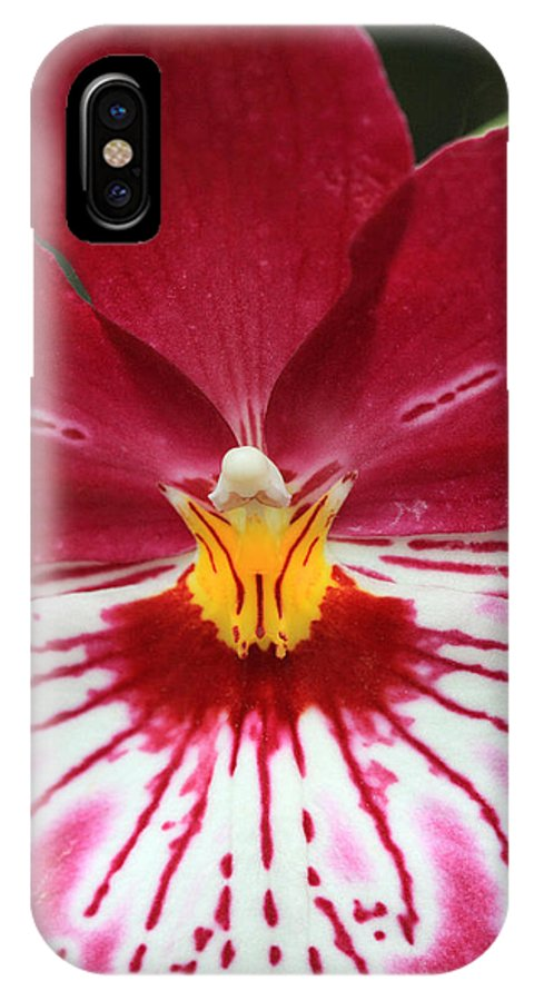 Orchid IPhone X Case featuring the photograph Orchid 8 by Pierre Leclerc Photography