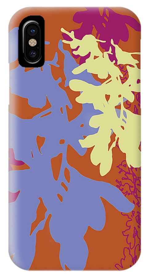 Lavender IPhone X Case featuring the digital art Orchids Caramel by Ceil Diskin