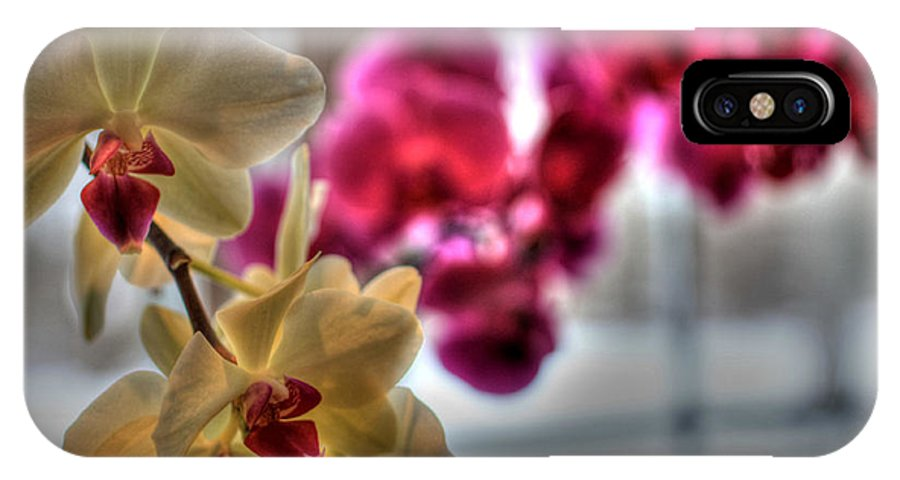 Orchids IPhone X Case featuring the photograph Orchids by David Bearden