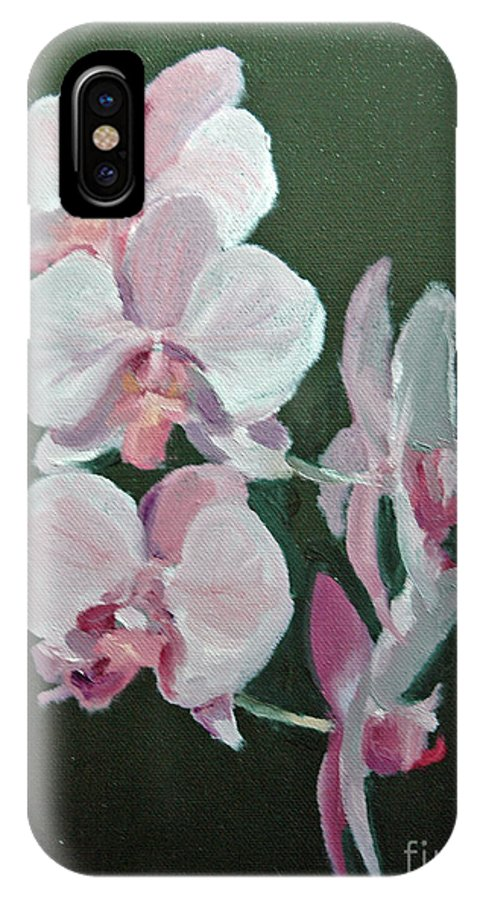 Floral IPhone X Case featuring the painting Orchids For Didi by Glenn Secrest
