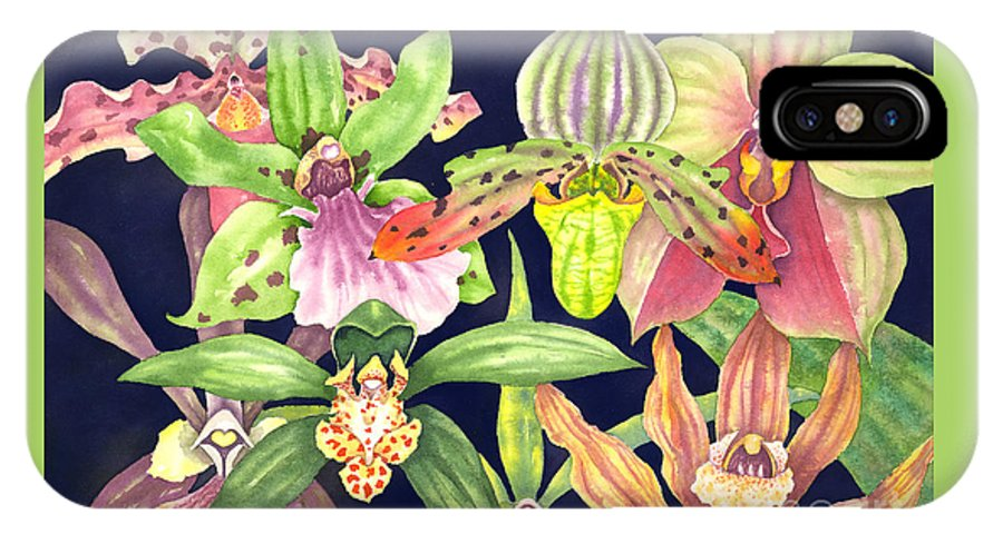Orchids IPhone X Case featuring the painting Orchids by Lucy Arnold
