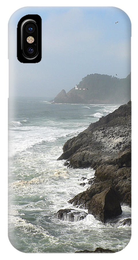 Pacific IPhone X Case featuring the photograph Oregon Coast by Larry Keahey