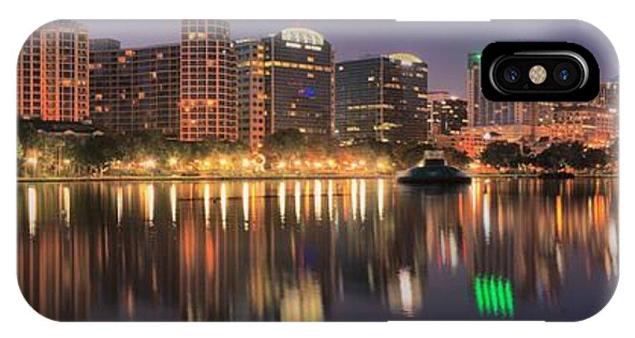 Orlando Sunrise IPhone X Case featuring the photograph Orlando Sunrise Panorama by Adam Jewell