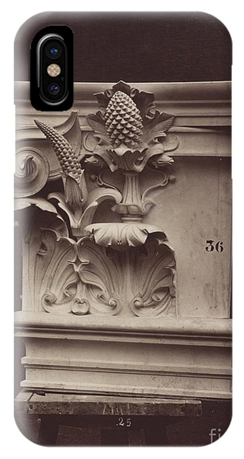 IPhone X Case featuring the photograph Ornamental Sculpture From The Paris Opera House (column Detail) by Louis-?mile Durandelle
