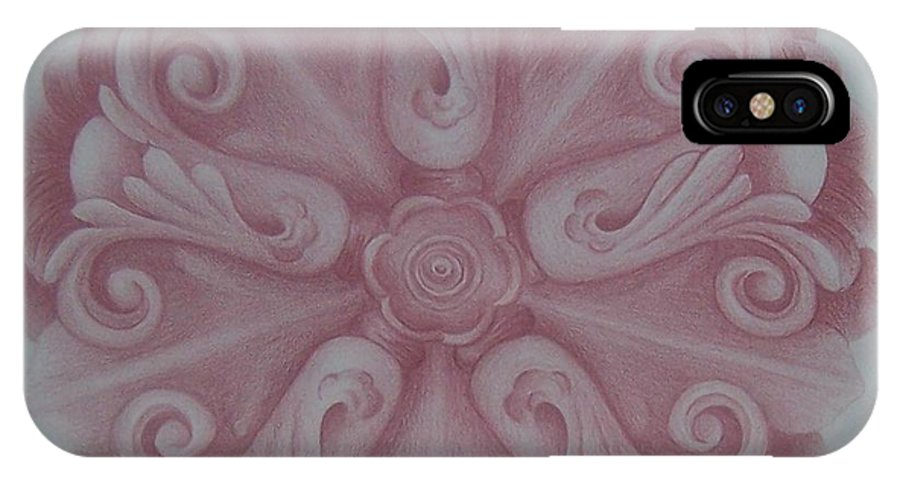 Ornament IPhone Case featuring the drawing Ornate by Emily Young