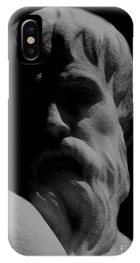 Black And White IPhone X Case featuring the photograph Orpheus Looks Back by RC DeWinter