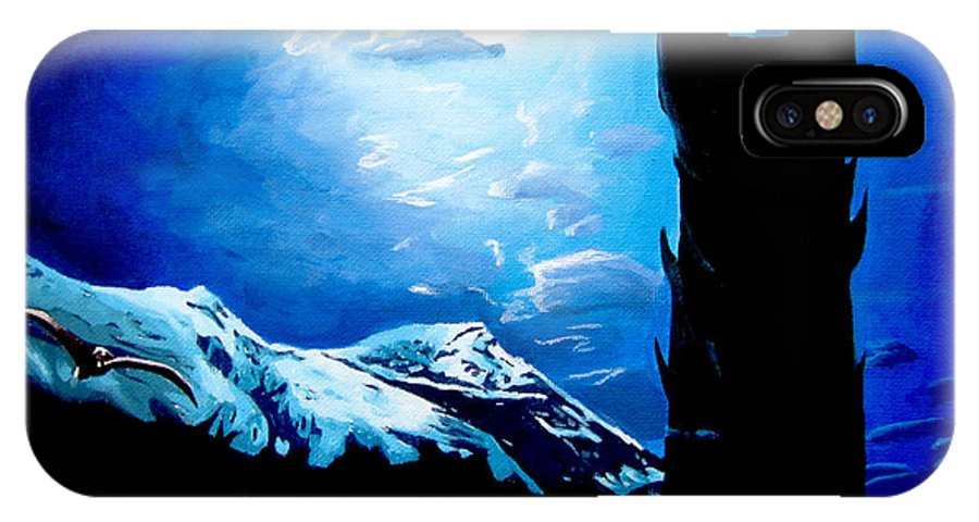 Lord IPhone X Case featuring the painting Orthanc Rescue by Kayleigh Semeniuk