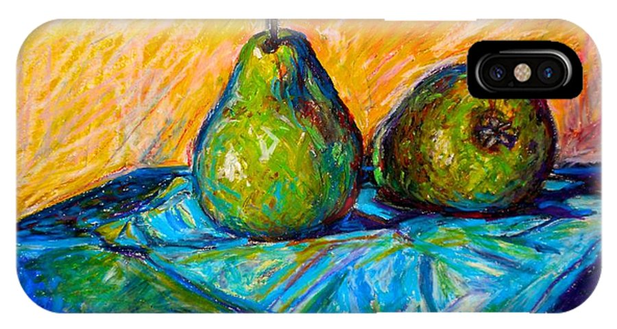 Still Life IPhone X Case featuring the painting Other Pears by Kendall Kessler