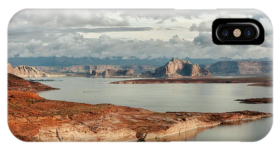 Southwest IPhone X / XS Case featuring the photograph Otherworldly Morning At Lake Powell by Sandra Bronstein