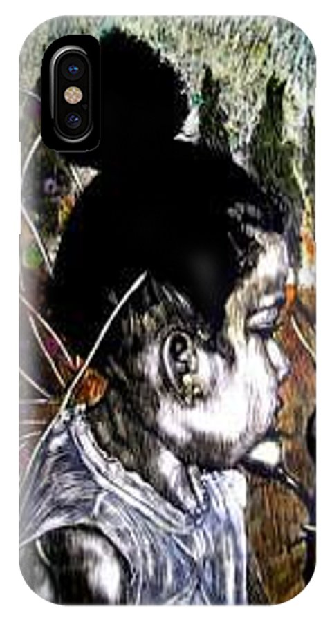 Fantasy IPhone X Case featuring the mixed media Our Farie Princess by Chester Elmore