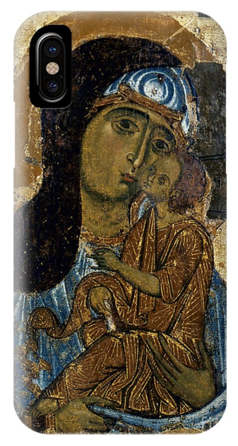 12th Century IPhone X Case featuring the photograph Our Lady Of Tenderness by Granger