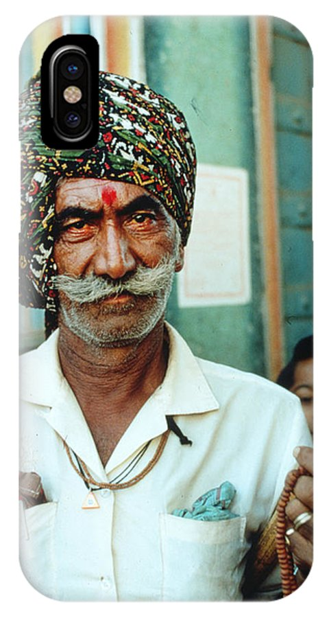 Beard IPhone X Case featuring the photograph Our Man In India by Carl Purcell