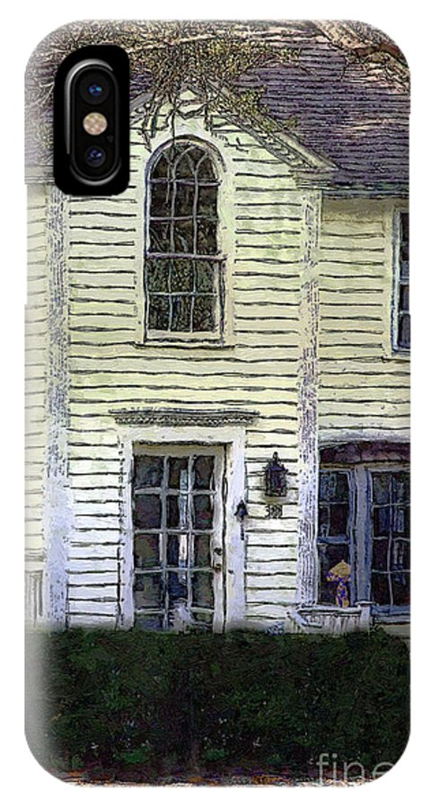 House IPhone X Case featuring the painting Our Town's Witch House by RC DeWinter