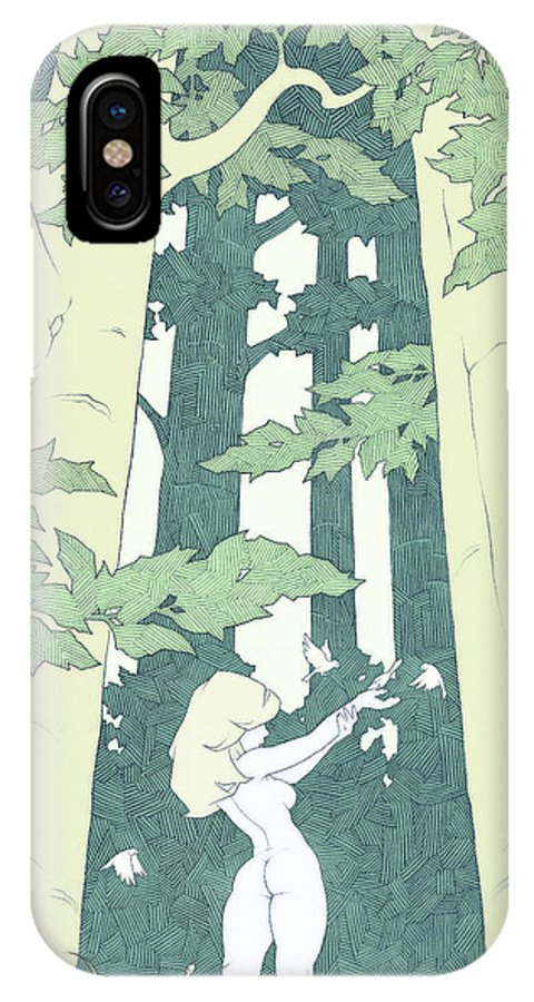 Elf IPhone X Case featuring the drawing Out Of Hand by Tommy Hunt