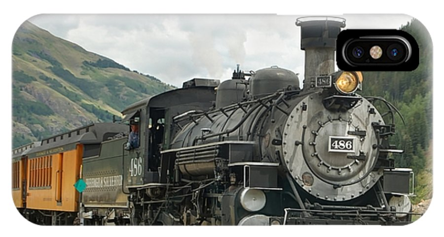 Steam Train Photographs IPhone X Case featuring the photograph Out Of Here by Ken Smith