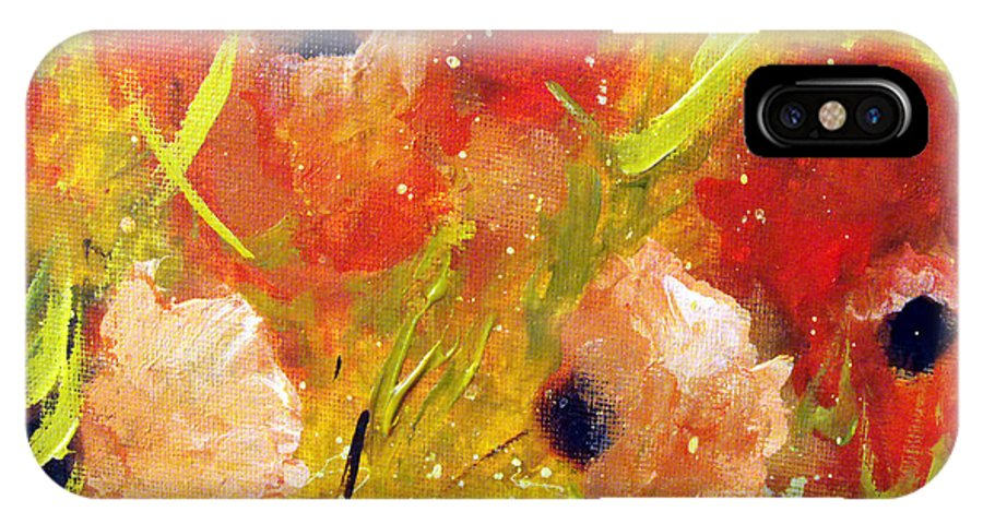 Decorative IPhone Case featuring the painting Out With The Sun by Ruth Palmer