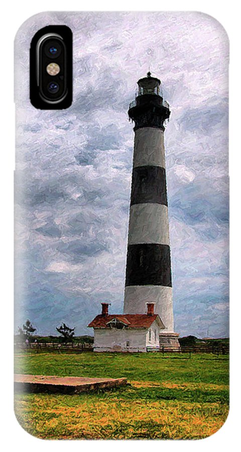 Lighthouse IPhone X Case featuring the photograph Outer Banks Beach Lighhouse by Randy Steele