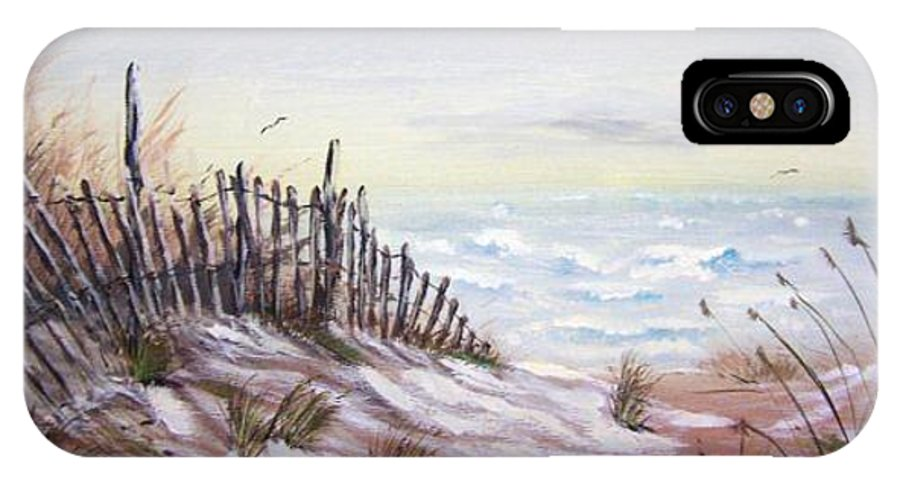 Beach IPhone X Case featuring the painting Outer Banks by Sherri Patterson