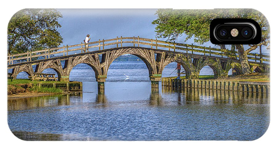 Summer IPhone X Case featuring the photograph Outer Banks Whalehead Club Bridge by Randy Steele
