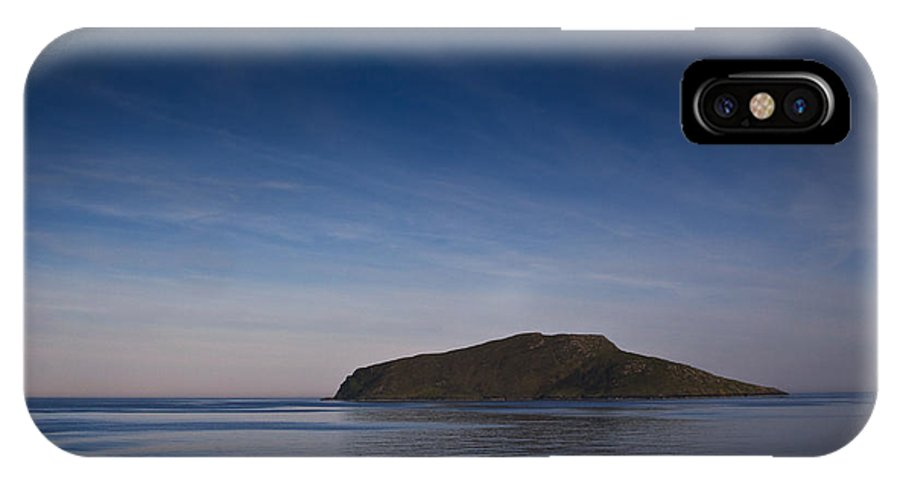 Blue IPhone X Case featuring the photograph Outer Hebrides In Sunset by Gabor Pozsgai