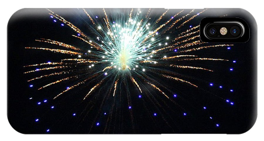 Fireworks IPhone X Case featuring the photograph Outer Space by Mina Thompson