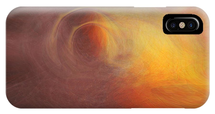Space Art IPhone X Case featuring the digital art Outerspace by Linda Sannuti