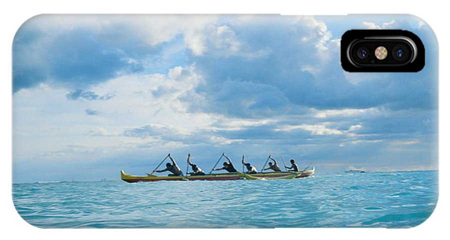 Afternoon IPhone X Case featuring the photograph Outrigger Canoe by Bob Abraham - Printscapes
