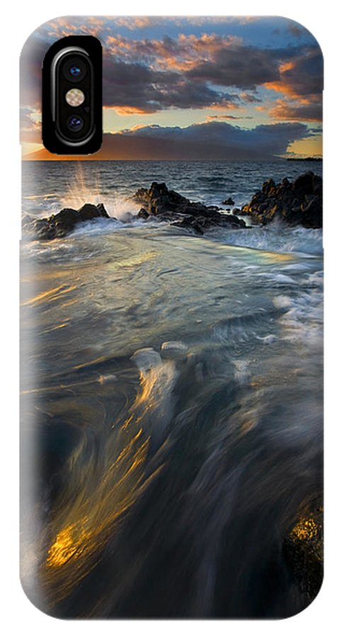 Cauldron IPhone X Case featuring the photograph Overflow by Mike Dawson