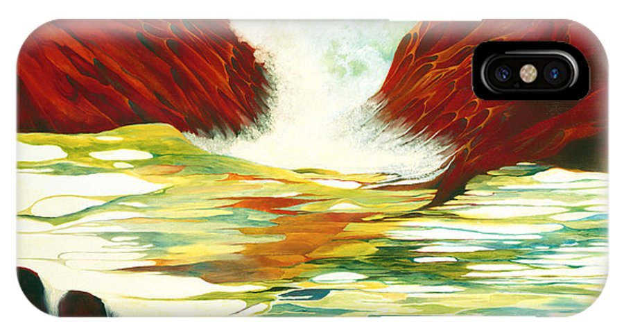 Oil IPhone Case featuring the painting Overflowing by Peggy Guichu