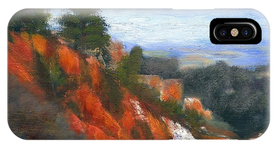 Southwest IPhone X Case featuring the painting Overlook by Gail Kirtz