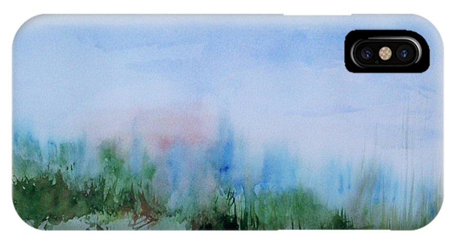 Landscape IPhone X Case featuring the painting Overlook by Suzanne Udell Levinger