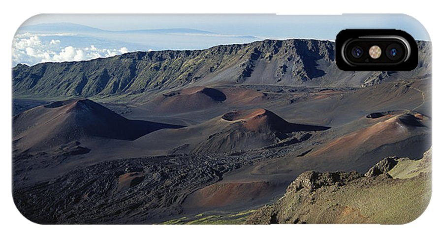 Above IPhone X Case featuring the photograph Overview Of Haleakala Cra by Rita Ariyoshi - Printscapes