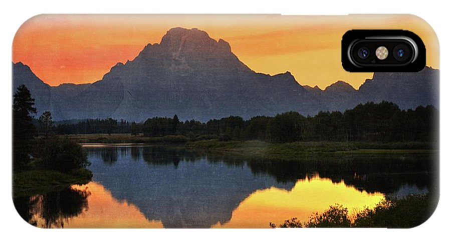 Grand Teton National Park IPhone X Case featuring the photograph Oxbow Sunset 13 by Marty Koch
