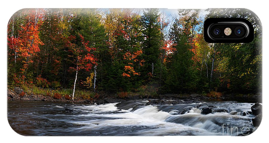 River IPhone X Case featuring the photograph Oxtongue River Ontario Autumn Scenery by Oleksiy Maksymenko