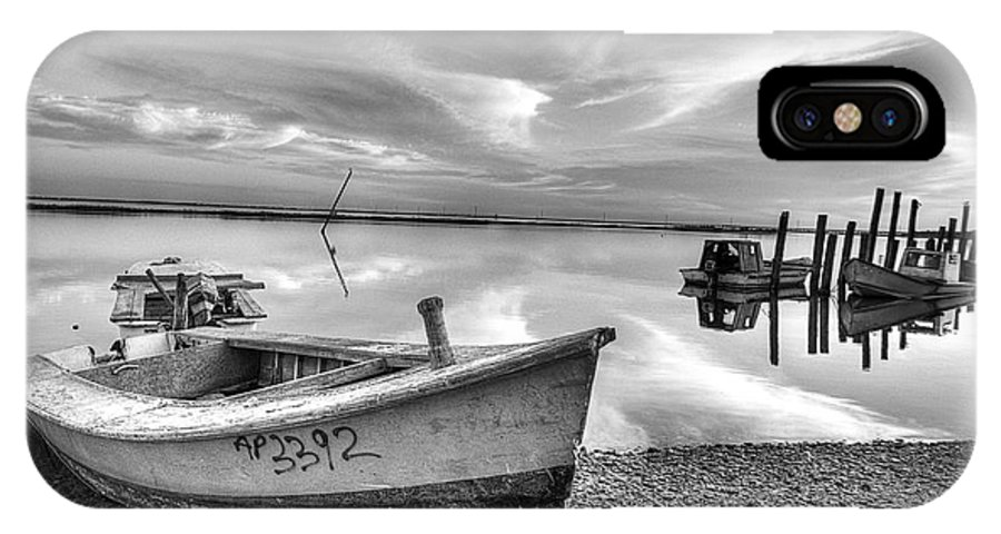 Boats IPhone X Case featuring the photograph Oyster Boat Ap3392 by Patrick Henrickson