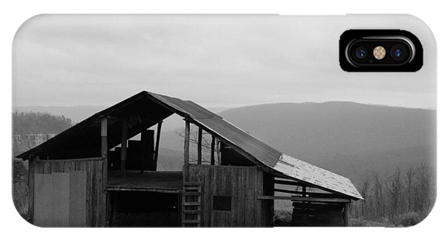 Barn IPhone X Case featuring the photograph Ozark Barn by Mary Halpin