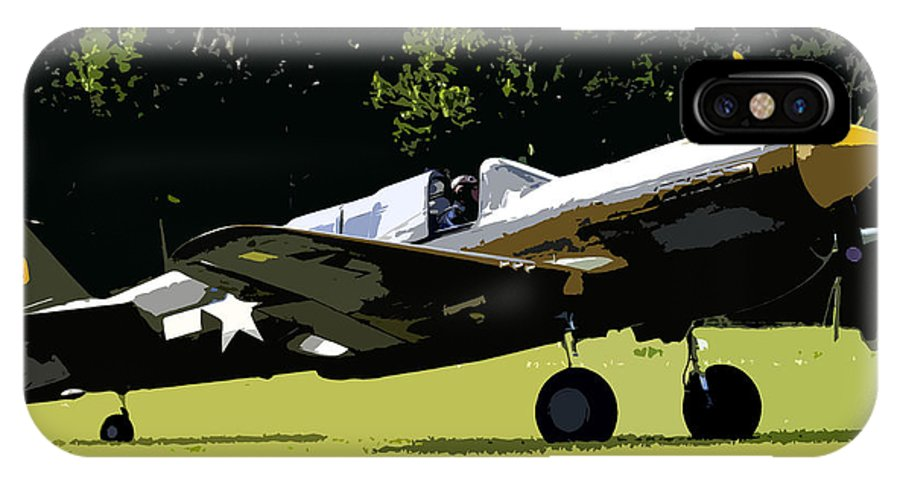 P 40 IPhone X Case featuring the painting P40 Take Off by David Lee Thompson