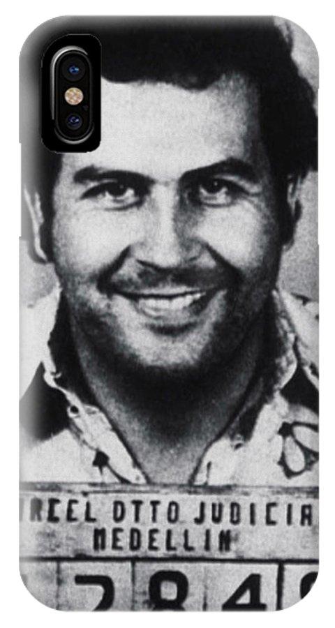 Pablo Escobar IPhone X Case featuring the photograph Pablo Escobar Mug Shot 1991 Vertical by Tony Rubino